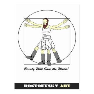 Vykort för Dostoevsky konstLeonardo