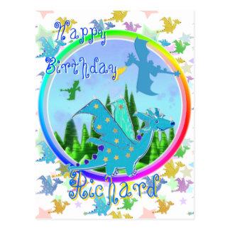 Vykort för drakar för grattis på födelsedagenRicha