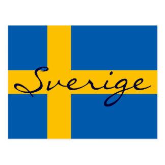 Vykort för flagga för Sverige sverigesvensk