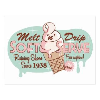 """Vykort för glass för Melt""""n-"""" droppande mjuk"""