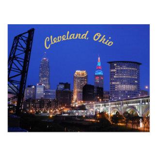 Vykort för horisont Cleveland OH för västra sida