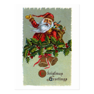 Vykort för järnekvintageSanta jul