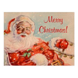 Vykort för jul för Santas Sleighritt