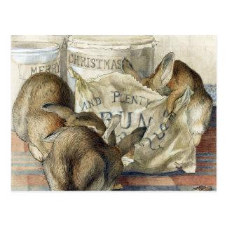 Vykort för kanin för Beatrix pottergod jul