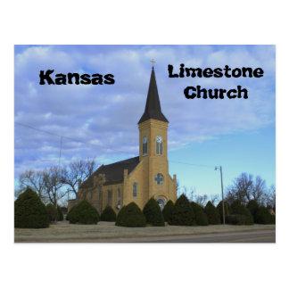 Vykort för Kansas Limestonekyrka