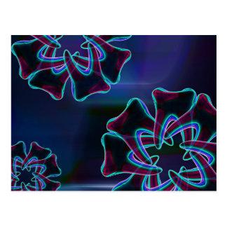 Vykort för konst för blått för tandblommadesign