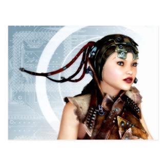 Vykort för konst för CyberGrunge 3d