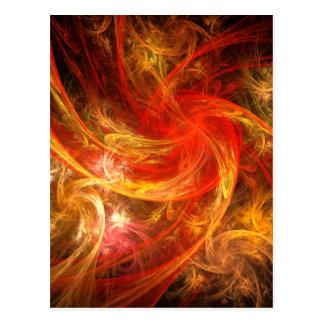 Vykort för konst för FirestormNovaabstrakt