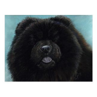 Vykort för konst för hund för ChowChow original-