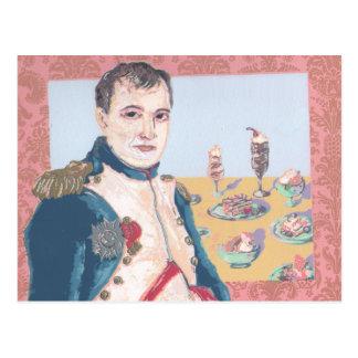 Vykort för konstverk Napoleon för fransk efterrätt