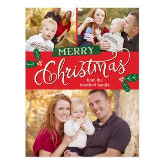 Vykort för kort för bärgod julfoto