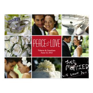 Vykort för kort för foto för bröllopCollagehelgdag