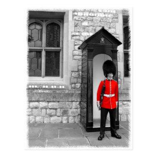 Vykort för London soldatparad