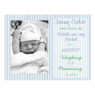 Vykort för meddelande för blåttpojkefödelse