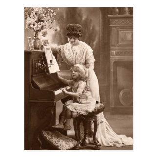Vykort för musik för piano för