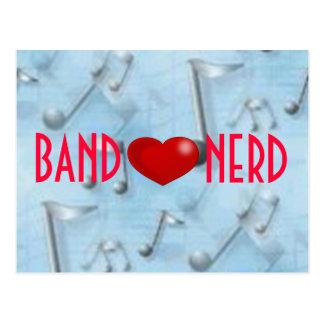 Vykort för musikband*heart*Nerd
