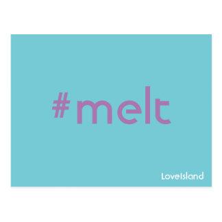 Vykort för ö för Hashtag Meltkärlek