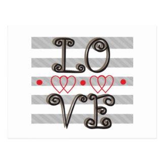 Vykort för oändlighet för kärlek för