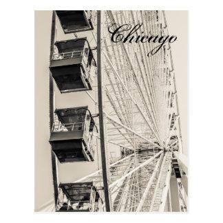 Vykort för pariserhjul för Chicago marinpir