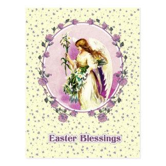 Vykort för påsk för vintagepåskängel kristna