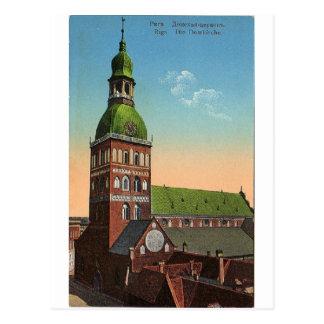 Vykort för Riga domkyrkavintage resor