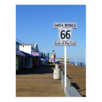 Vykort för Santa Monica rutt 66!