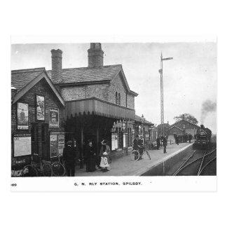 Vykort för Spilsby järnväg stationvintage