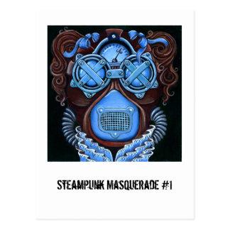 Vykort för Steampunk maskerad #1