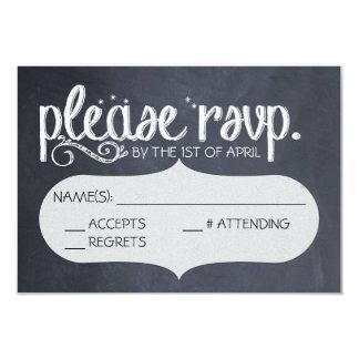 Vykort för svart tavlavintage bröllopOSA 8,9 X 12,7 Cm Inbjudningskort