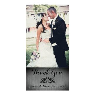 Vykort för tack för silverbröllopfoto