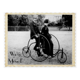 Vykort för tandem cykel för vintage röra