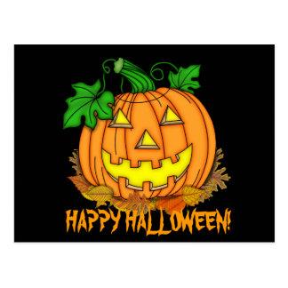 Vykort för tecknad för Halloween pumpahelgdag