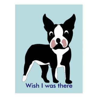 Vykort för tecknadBoston Terrier