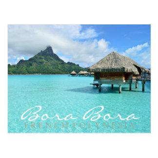 Vykort för text för dubbla för Bora Bora