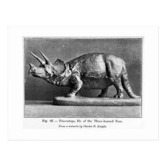 Vykort för Triceratopsstatykonst