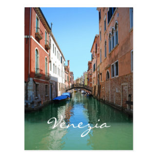 Vykort för Venedig kanalanpassningsbar