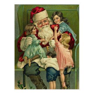 Vykort för vintageSanta jul