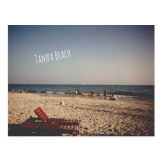 Vykort för vintageTampa strand