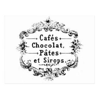 Vykort - fransk Cafe