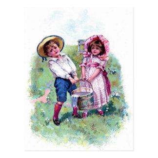Vykort - jack och Jill