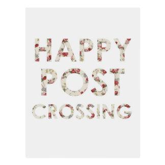 """Vykort """"lyckliga Postcrossing ro """","""