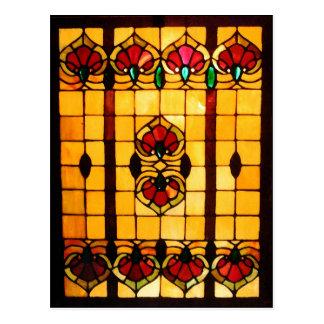 Vykort - målat glassfönstervykort