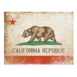 Vykort med den kalla Kalifornien flagga