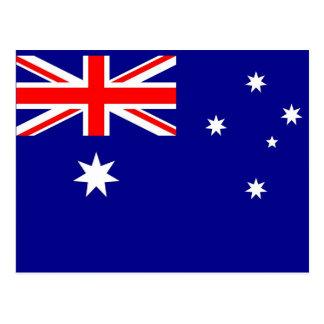 Vykort med flagga av Australien
