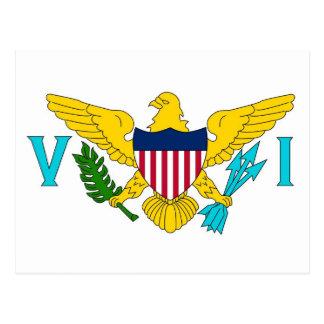 Vykort med flagga av jungfruliga Öar USA