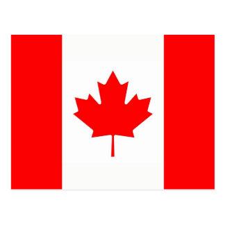 Vykort med flagga av Kanada