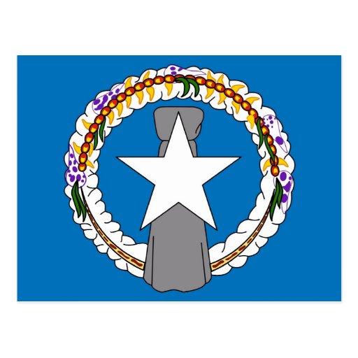 Vykort med flagga av Northern Mariana Islands