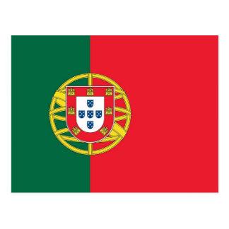 Vykort med flagga av Portugal
