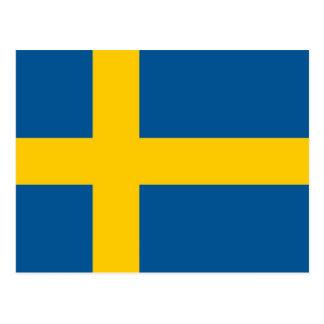 Vykort med flagga av sverigen
