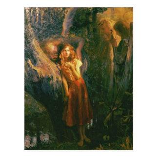 Vykort med Gaston Bussiere målning